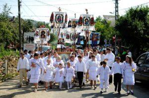 Profeții în drum spre Mânăstirea Moisei